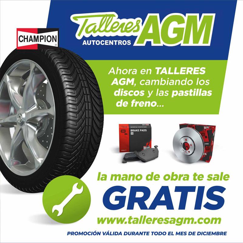 Promoción cambio pastillas y discos de frenos Talleres AGM