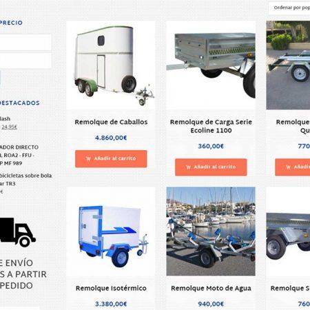 Tienda Online para coches