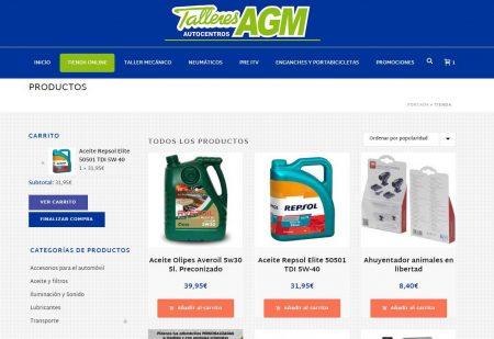 Tienda online accesorios para coche Talleres AGM