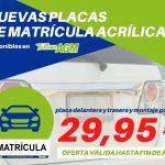 Nuevas placas de matrícula acrílicas   Talleres AGM Albacete