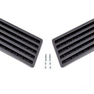 Set rejillas negras cerradas TowBox V3