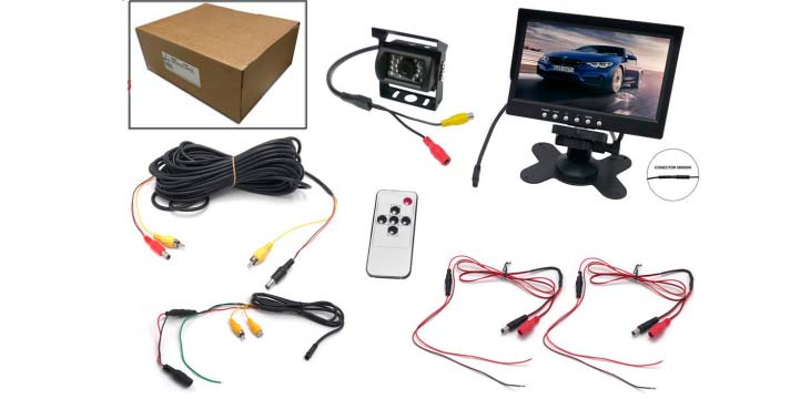 Kit Monitor 7 de instalación de cámara trasera | Talleres AGM
