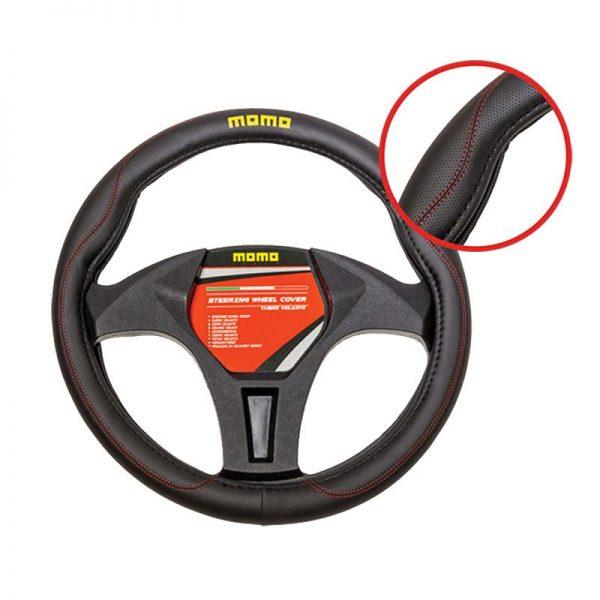 Funda volante momo 011 en color negro/rojo